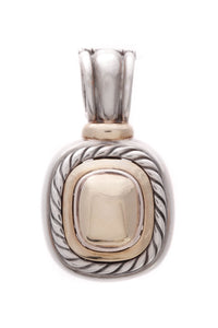 David Yurman Albion Dome Pendant Silver Gold