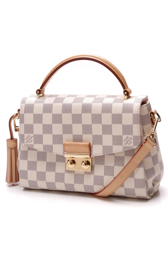 Louis Vuitton Croisette Crossbody Bag Damier Azur