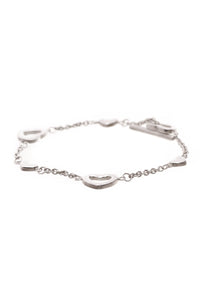 Tiffany & Co. Station Heart Toggle Bracelet Silver