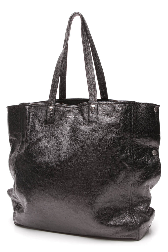 Balenciaga Papier Snap Shopper Tote Bag Black