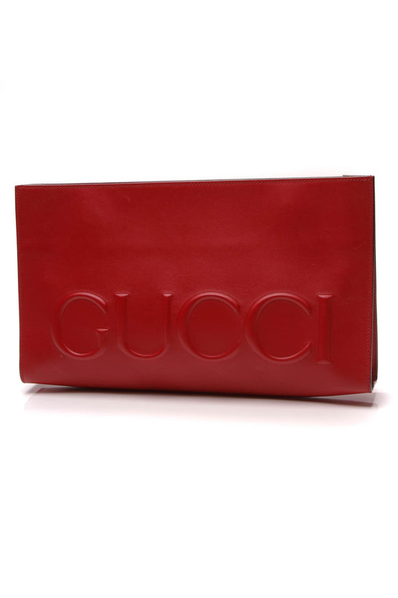 Gucci Linea Large Clutch Bag Red