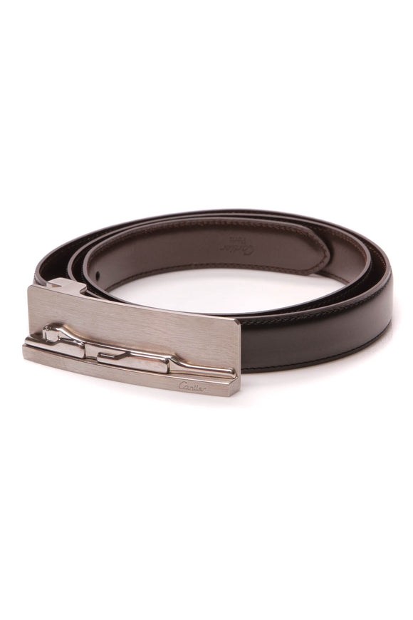 Cartier Panther Buckle Reversible Belt Black Brown