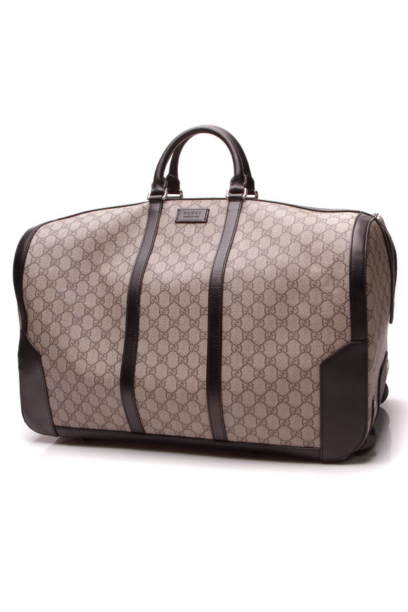 Gucci Rolling Duffle Bag Supreme Canvas Beige