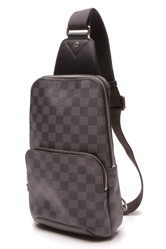Louis Vuitton Avenue Sling Backpack Damier Graphite Gray