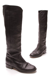 Chanel CC Tall Boots Black Size 38.5