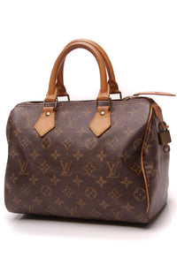 Louis Vuitton Vintage Speedy 25 Bag Monogram Brown