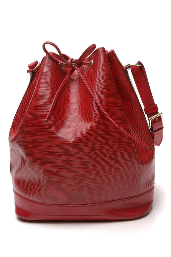 Louis Vuitton Vintage Epi Noe Bag Red