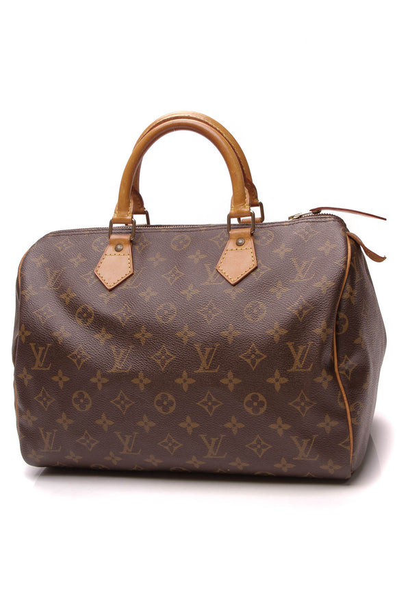 Louis Vuitton Vintage Speedy 30 Bag Monogram Brown