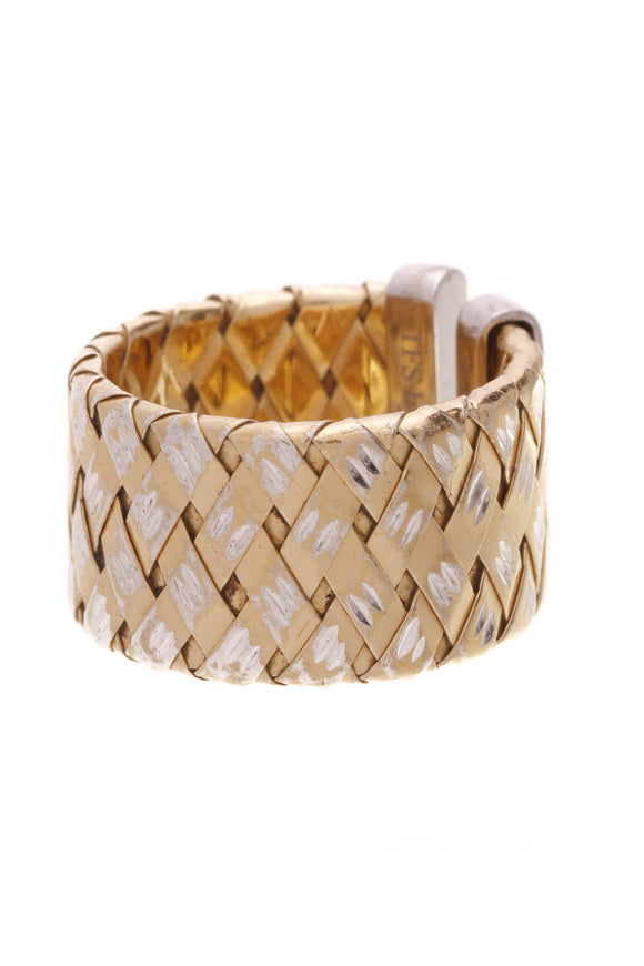Roberto Coin The Fifth Season Woven Ring Gold Plated Size 7