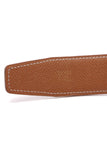 Hermes Vintage 32mm Reversible Belt Strap Black Tan