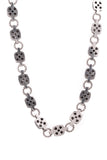 David Yurman Diamond Black Chiclet Necklace Silver