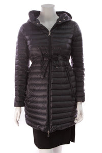 Moncler Puffer Long Coat Navy Size Small
