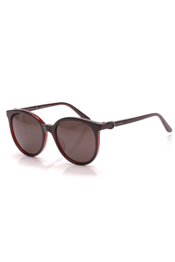 Cartier Signature C Sunglasses Black Red