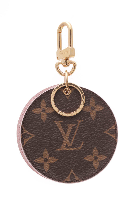 Louis Vuitton Mirror Key Holder Monogram Rose Ballerine Brown Pink