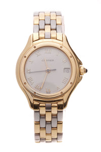 Cartier Two-Tone Cougar Ladies Watch Steel Gold