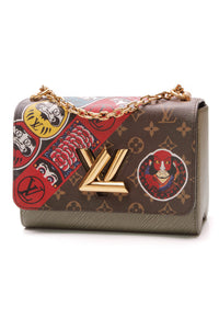 Louis Vuitton Epi Kabuki Twist MM Bag Pepper Monogram Brown Green