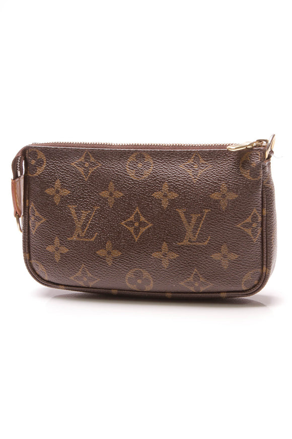 Louis Vuitton Mini Pochette Accessories Bag Monogram Brown