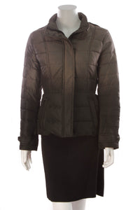 Burberry Ombre Parka Jacket  Black Metallic Gray Size Medium