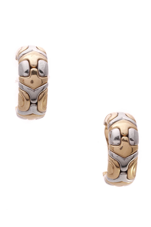 Bvlgari Clip-on Huggie Earrings Gold Steel