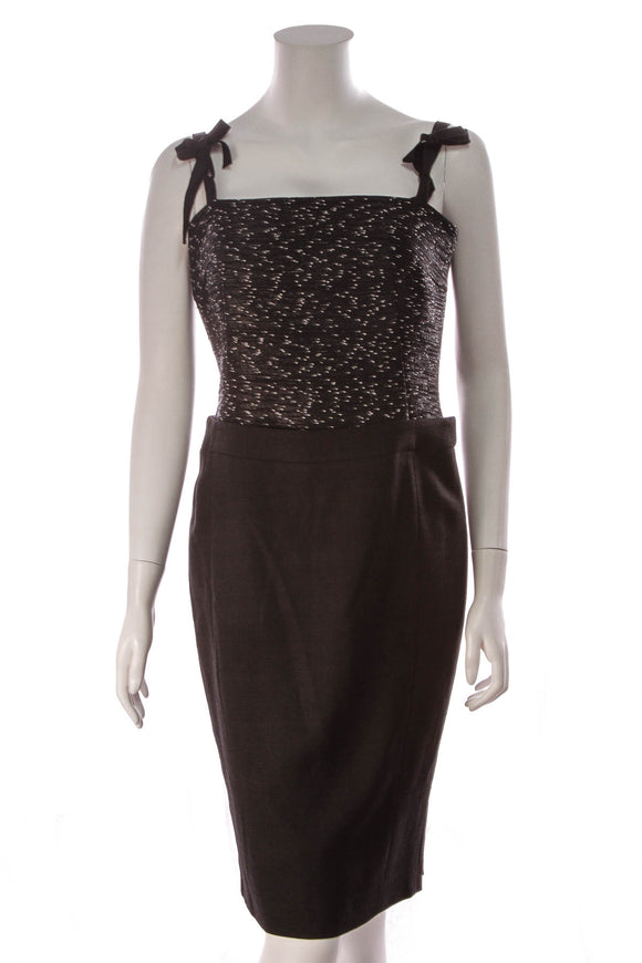Escada Bandeau Short Dress Black Size 36