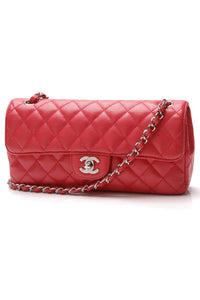 Chanel East West Flap Bag Hot Pink Caviar