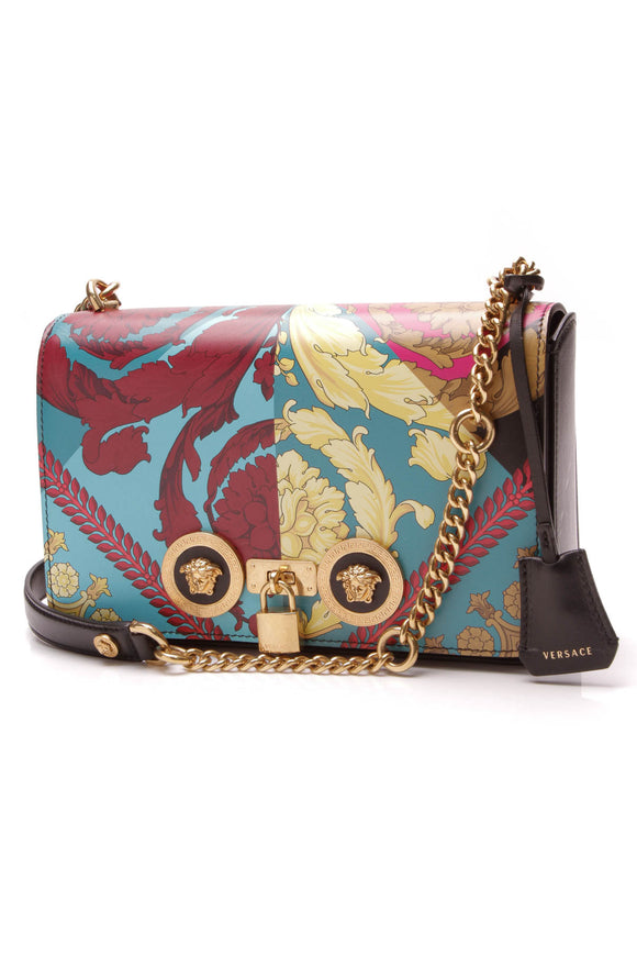 Versace Icon Voyage Barocco Medium Shoulder Bag Multicolor