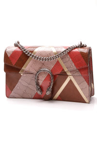 Gucci Ayers Snakeskin Small Dionysus Bag Multicolor Pink