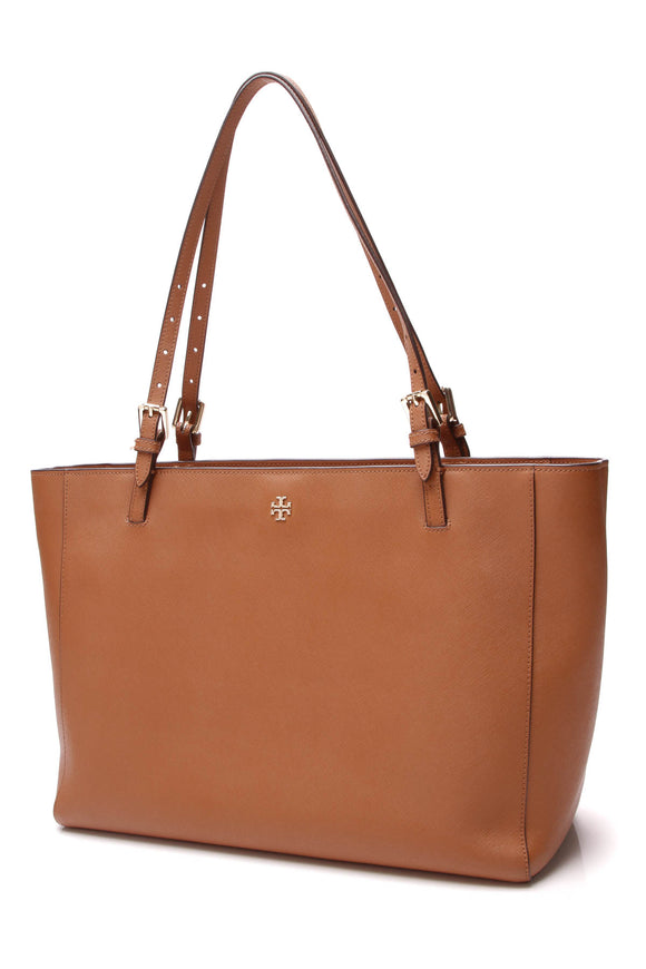 Tory Burch York Buckle Tote Bag Brown Saffiano