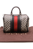 Gucci Vintage Web Medium Boston Bag Navy Signature Canvas
