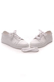 Chanel CC Low-Top Rubber Sneakers White Size 41.5