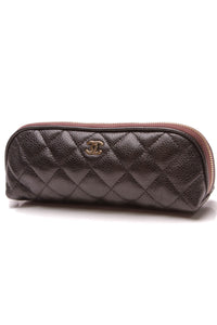 Chanel Quilted Small Zipper Pouch Black Caviar