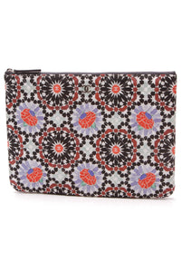 Chanel VIP Quilted Floral Pouch Multicolor