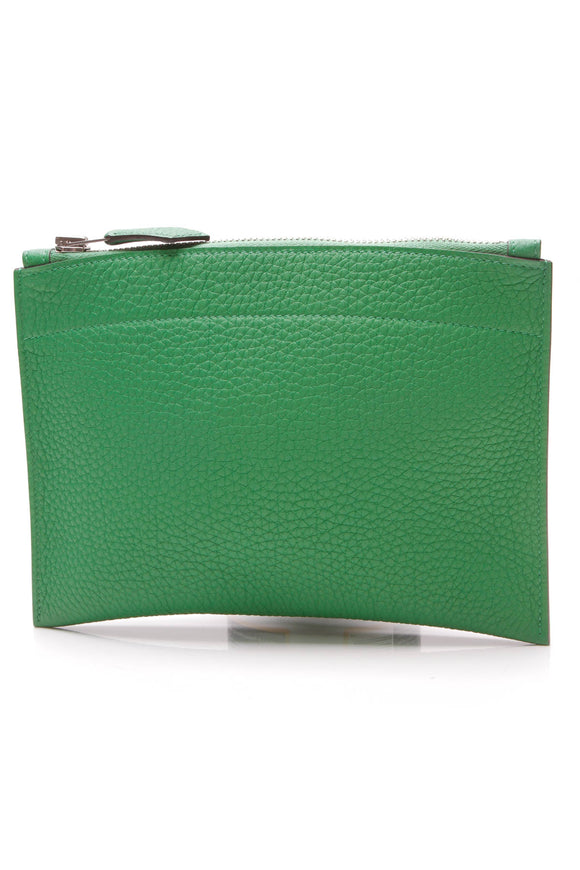 Hermes Mini Bazar Pouch Green Togo