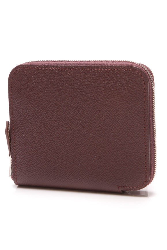 Hermes Silk'in Compact Wallet Bordeaux Epsom