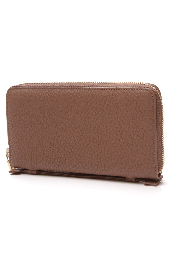 Loro Piana Mini Pochette Zippy Wallet Brown