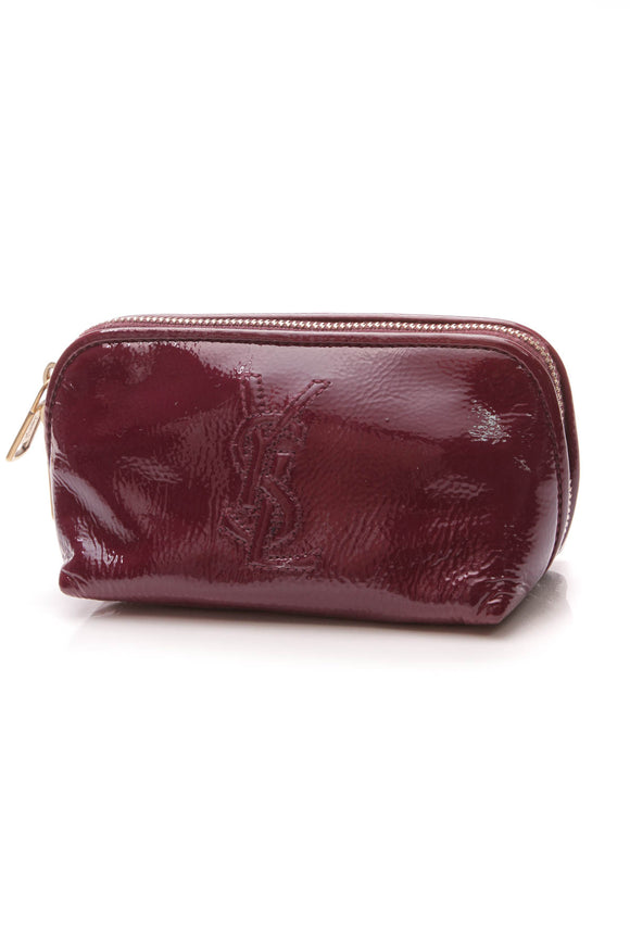 Yves Saint Laurent YSL Small Pouch Magenta Patent