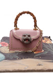 Gucci Thiara Mini Bamboo Top Handle Bag Pink