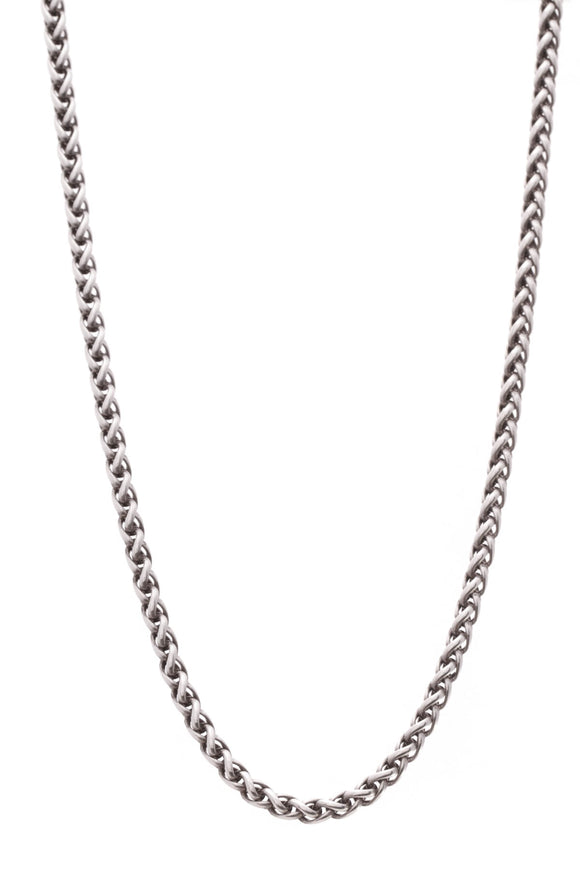 David Yurman Wheat Chain Necklace Silver