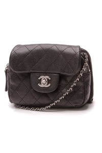 Chanel Classic Mini Flap WOC Bag Black Caviar