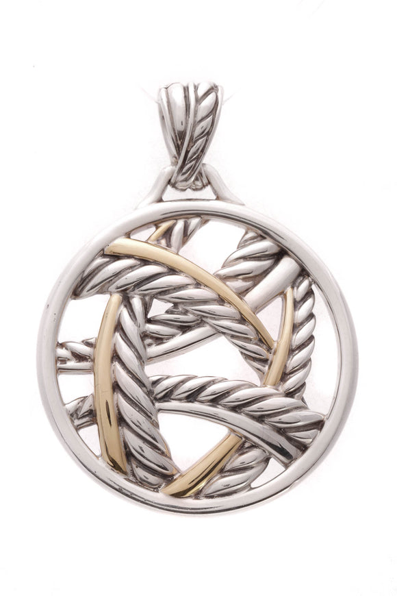 David Yurman Papyrus Pendant Silver Gold