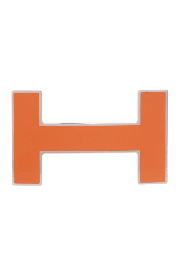 Hermes H Quizz 32mm Belt Buckle Orange