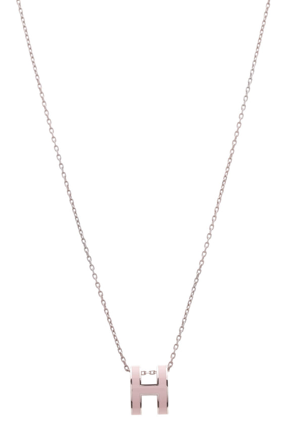 Hermes Pop H Necklace Pink