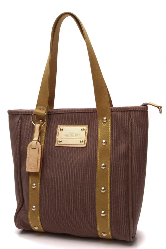 Louis Vuitton Cabas MM Tote Bag Brown Antigua
