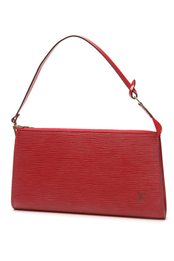 Louis Vuitton Epi Pochette Accessories Bag Red