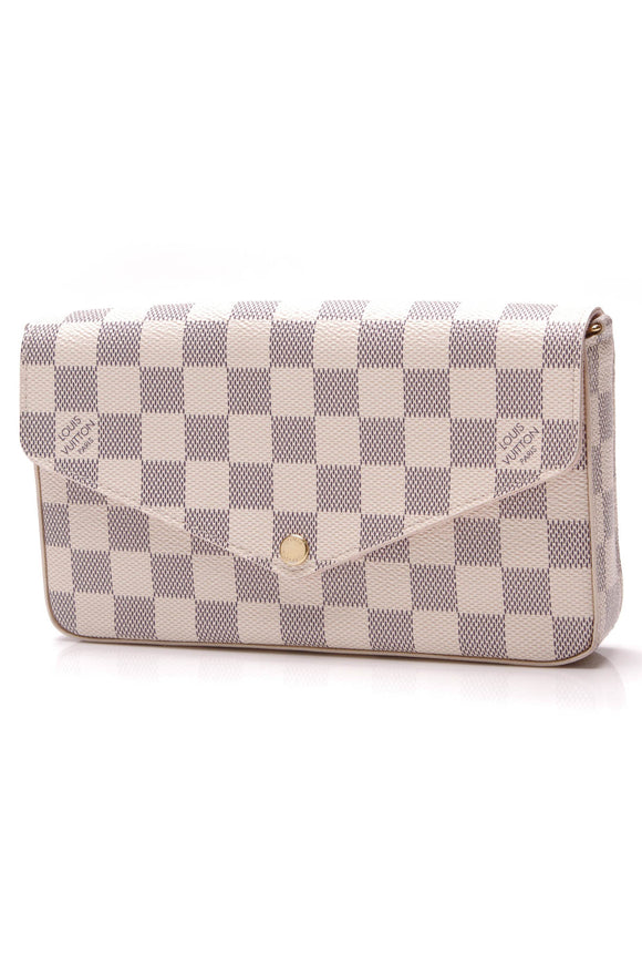 Louis Vuitton Pochette Felicie Bag Damier Azur