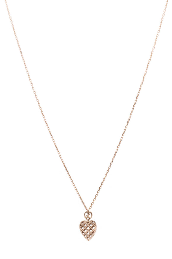 Gucci Diamantissima Heart Necklace Gold