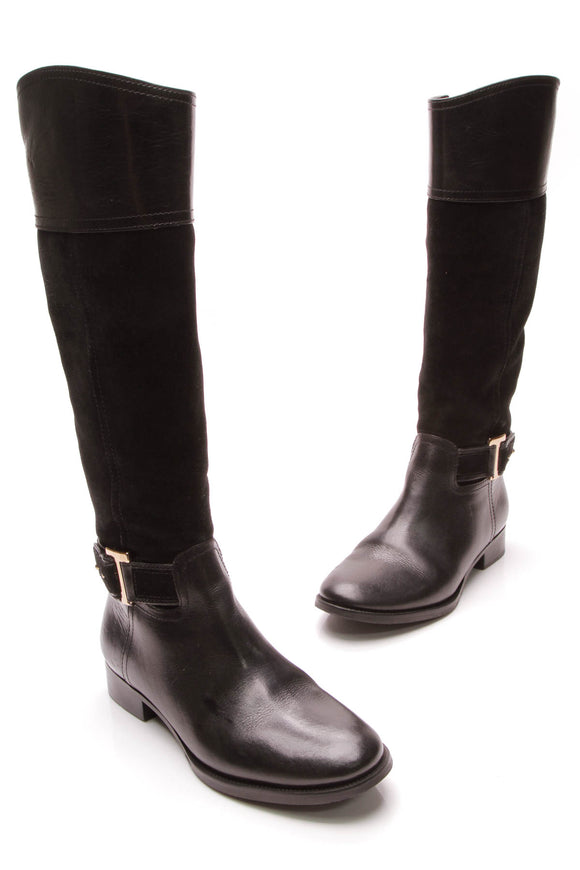 Tory Burch Tenley Riding Boots Black Size 7.5