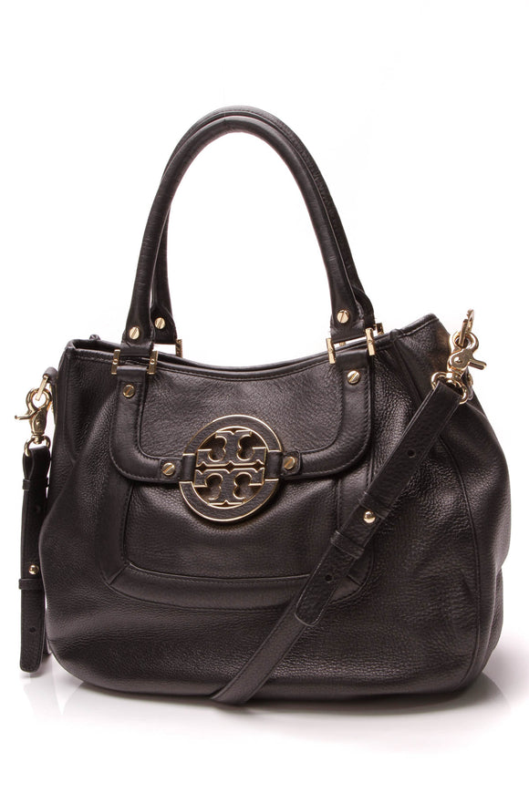Tory Burch Amanda Satchel Crossbody Bag Black