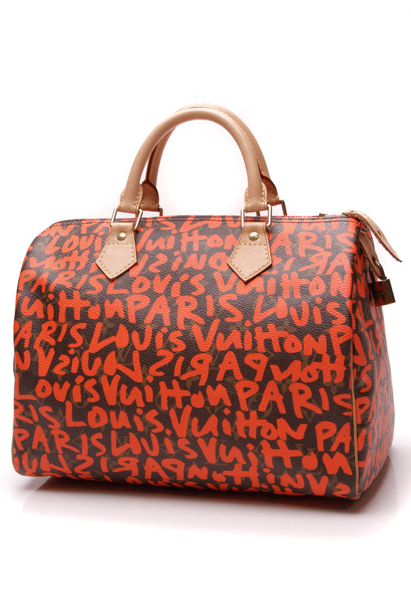 Louis Vuitton Graffiti Speedy 30 Bag Monogram Orange