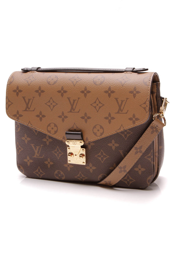 Louis Vuitton Pochette Metis Bag Reverse Monogram Brown
